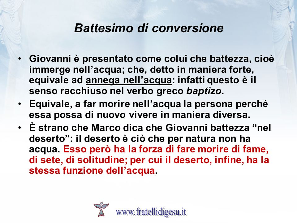 Battesimo di conversione
