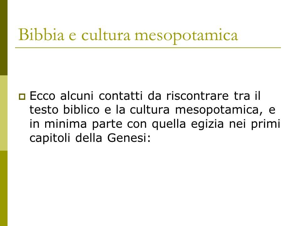 Bibbia e cultura mesopotamica