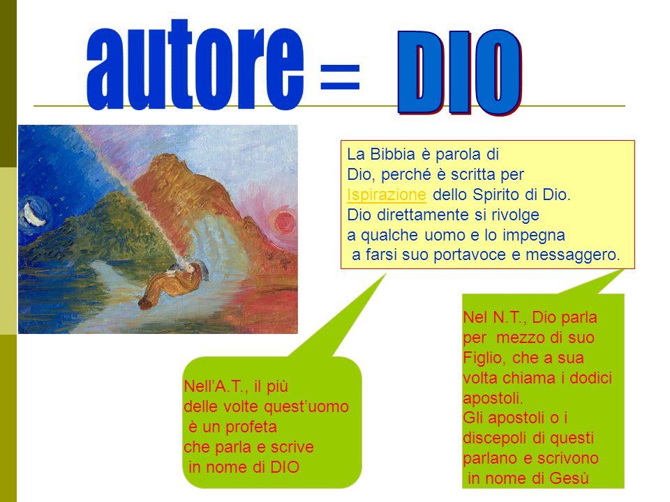 = autore DIO La Bibbia è parola di Dio, perché è scritta per