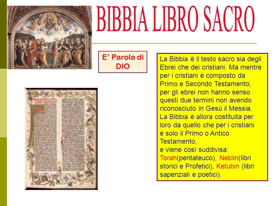 BIBBIA LIBRO SACRO E' Parola di DIO