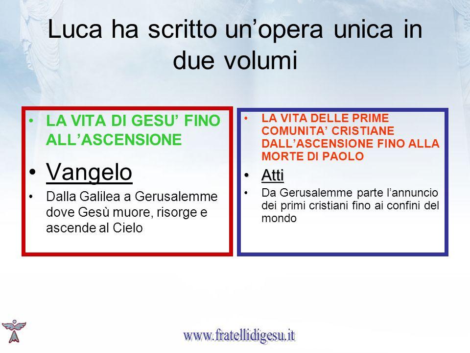 Luca ha scritto un'opera unica in due volumi