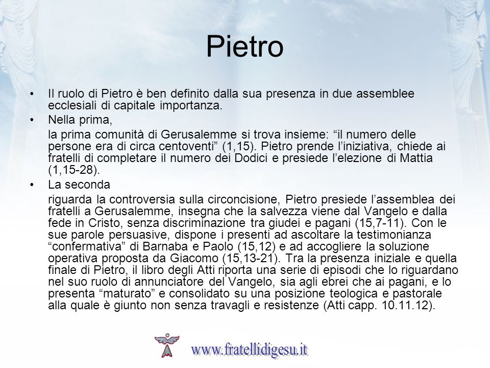Pietro www.fratellidigesu.it