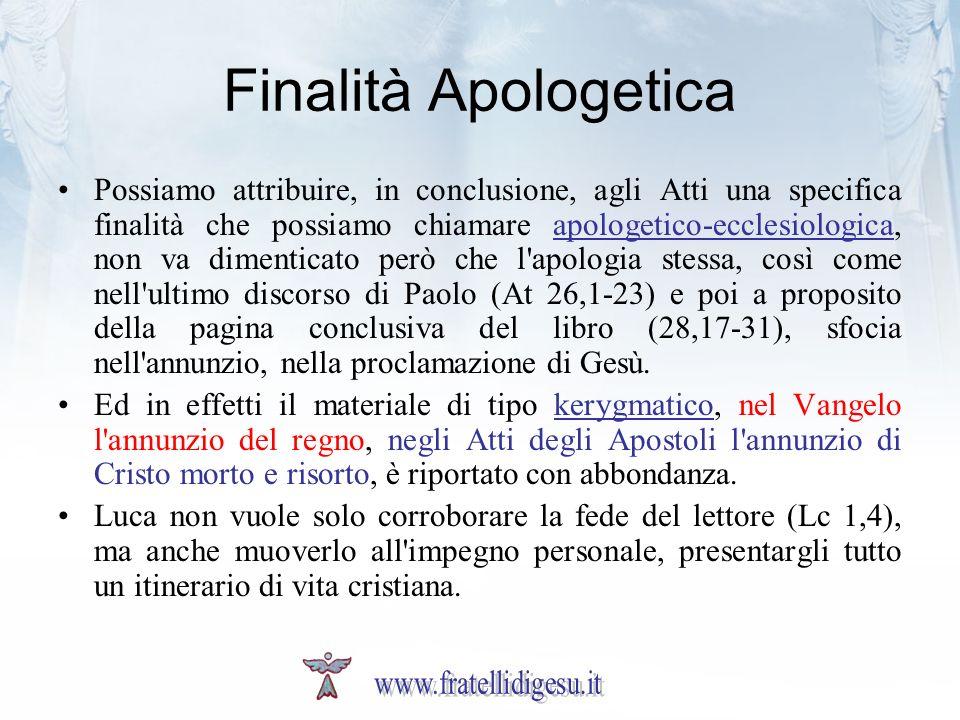 Finalità Apologetica