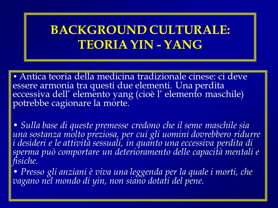 BACKGROUND CULTURALE: TEORIA YIN - YANG
