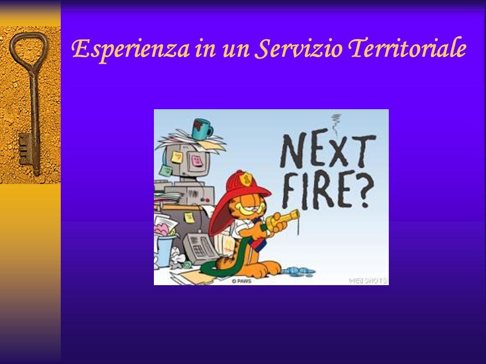 Esperienza in un Servizio Territoriale