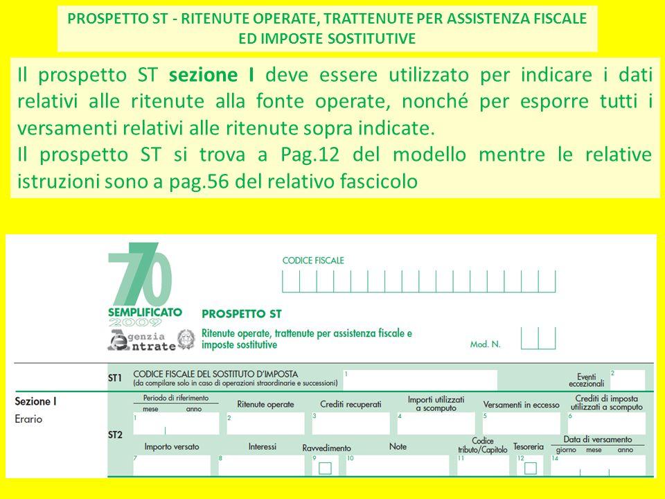 PROSPETTO ST - RITENUTE OPERATE, TRATTENUTE PER ASSISTENZA FISCALE ED IMPOSTE SOSTITUTIVE