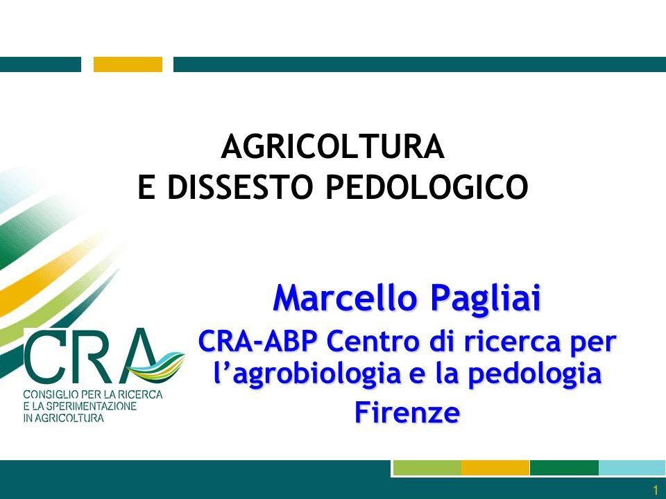 AGRICOLTURA E DISSESTO PEDOLOGICO