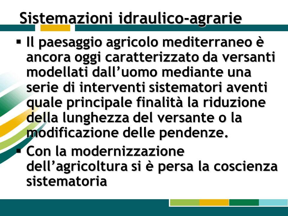 Sistemazioni idraulico-agrarie
