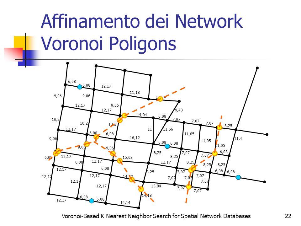 Affinamento dei Network Voronoi Poligons
