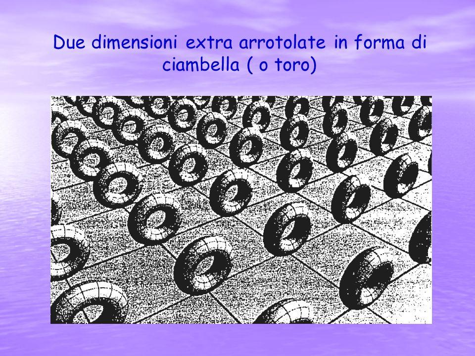 Due dimensioni extra arrotolate in forma di ciambella ( o toro)