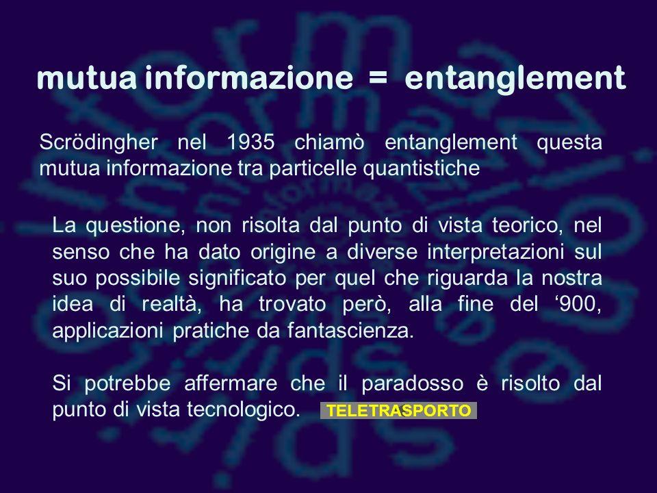mutua informazione = entanglement
