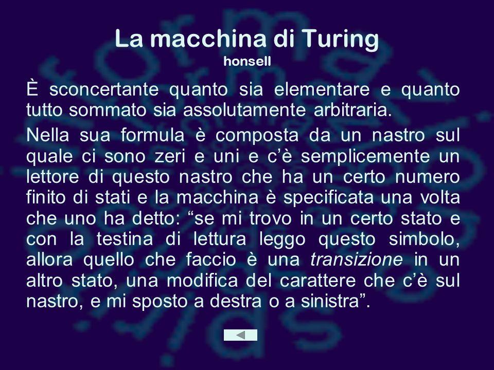 La macchina di Turing honsell