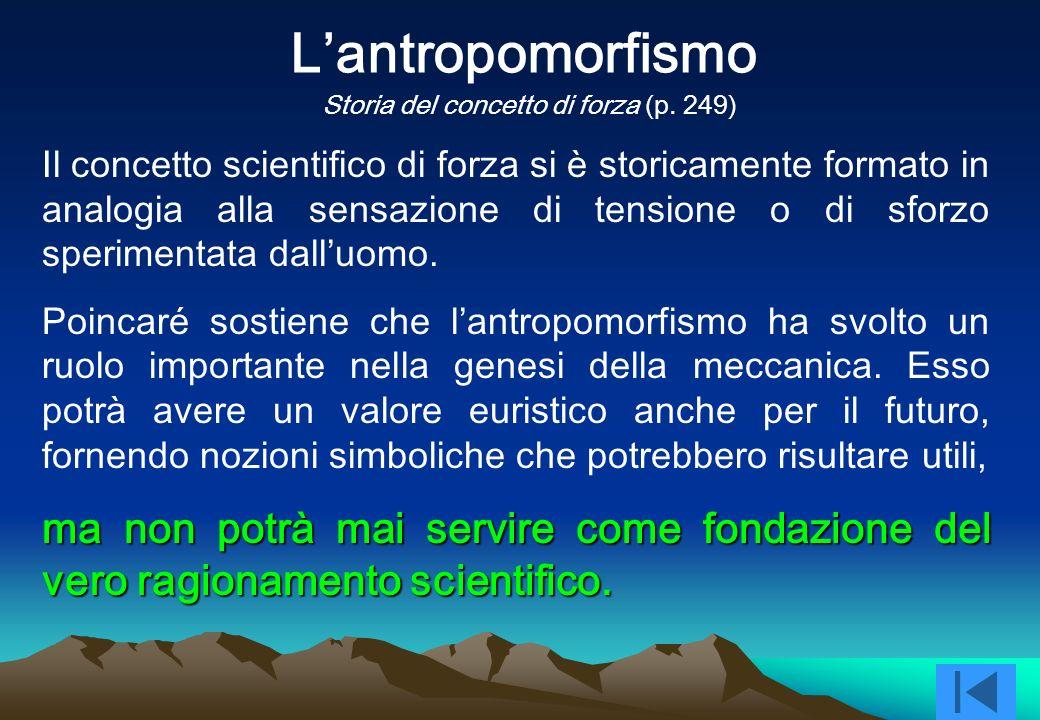 L'antropomorfismo Storia del concetto di forza (p. 249)
