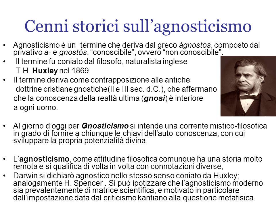 Cenni storici sull'agnosticismo