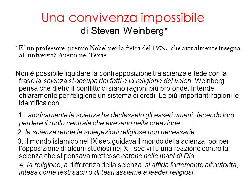 Una convivenza impossibile di Steven Weinberg*