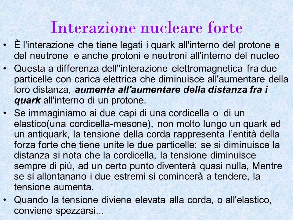 Interazione nucleare forte