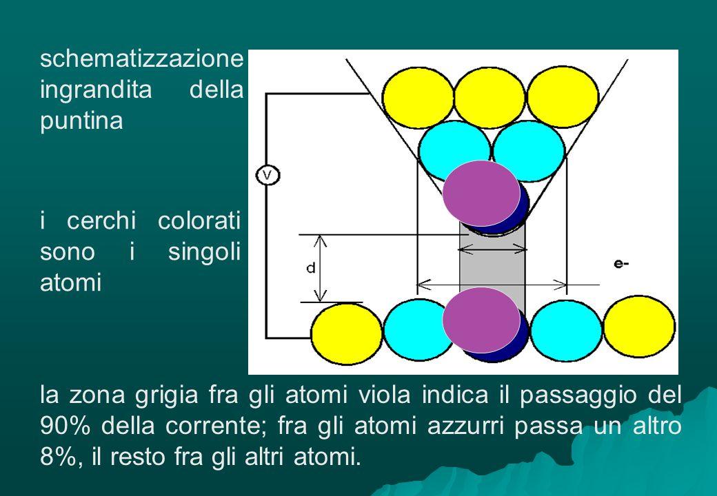 schematizzazione ingrandita della puntina