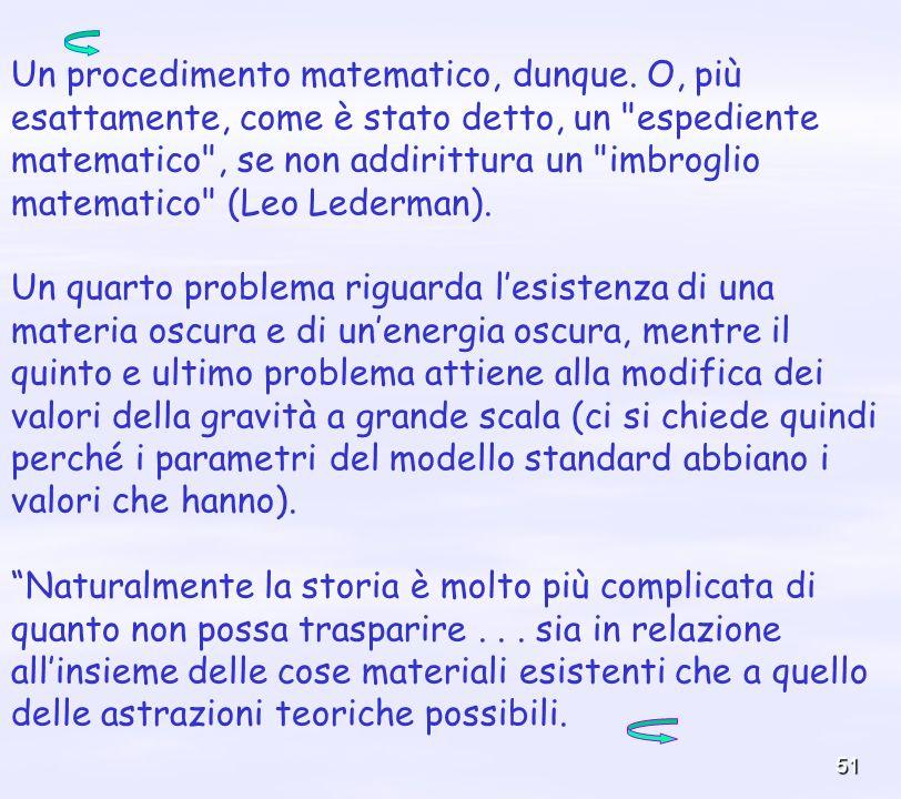Un procedimento matematico, dunque