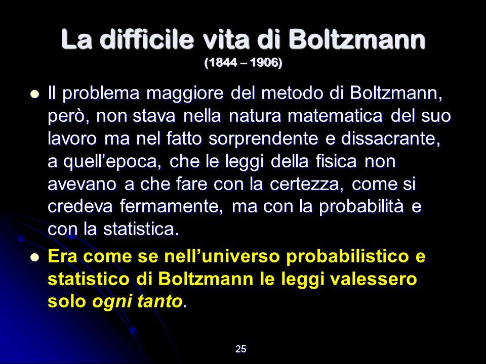 La difficile vita di Boltzmann (1844 – 1906)
