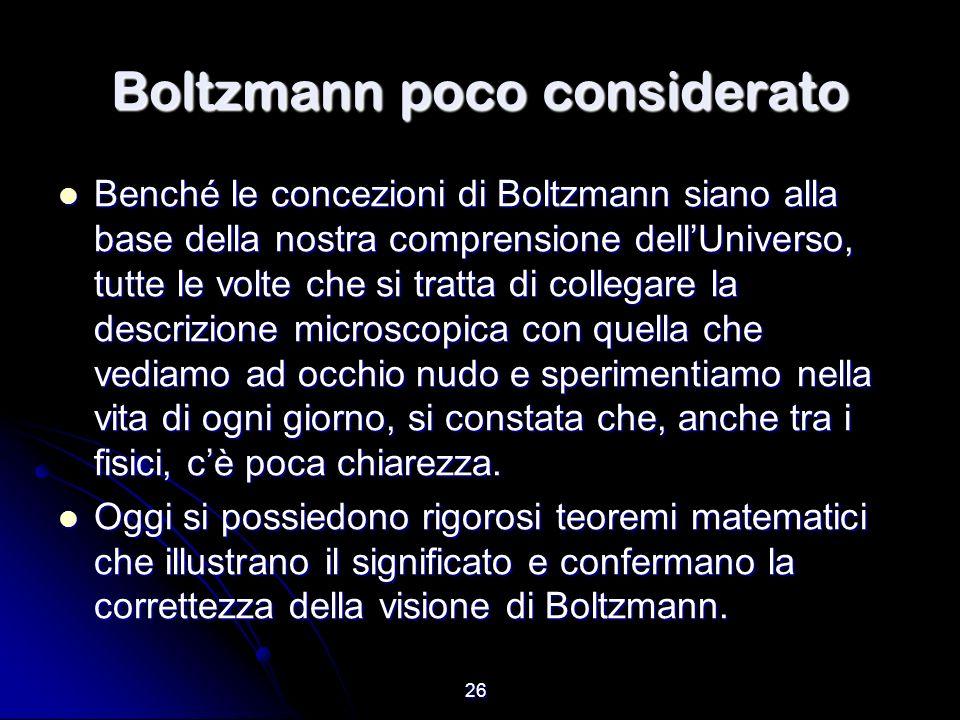 Boltzmann poco considerato