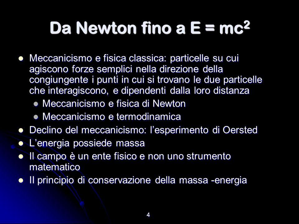 Da Newton fino a E = mc2