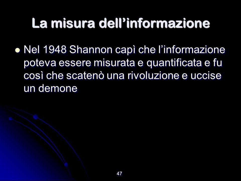 La misura dell'informazione