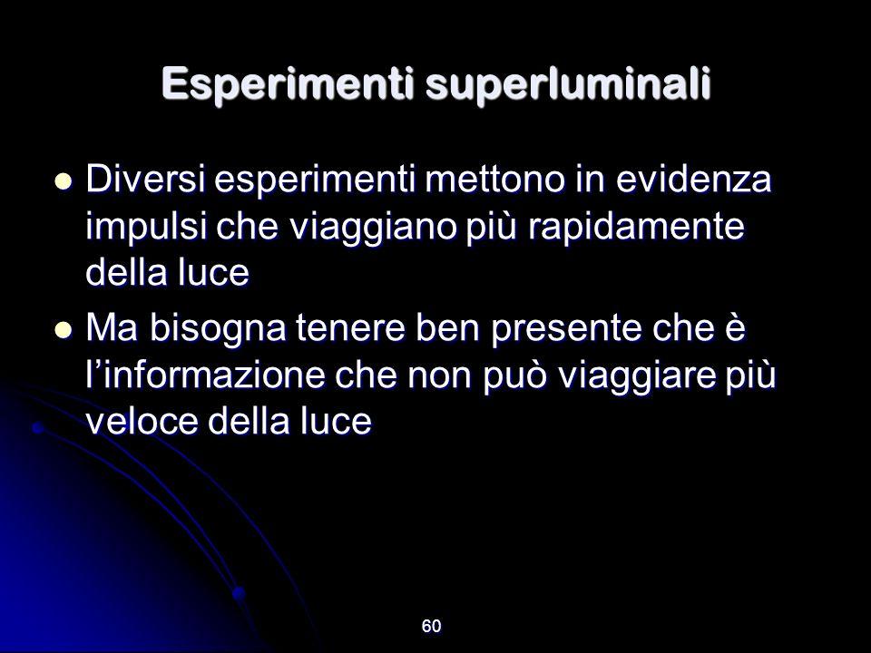 Esperimenti superluminali