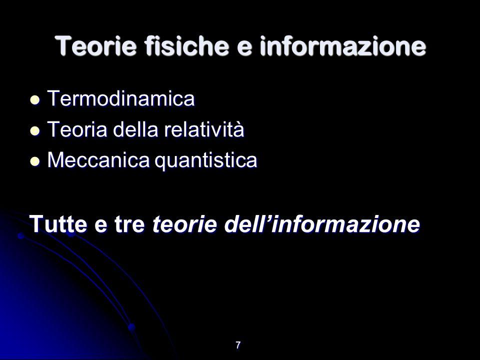 Teorie fisiche e informazione