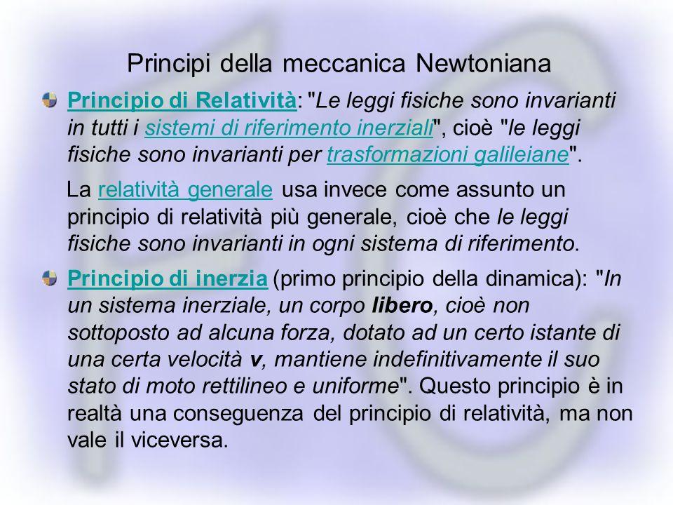 Principi della meccanica Newtoniana