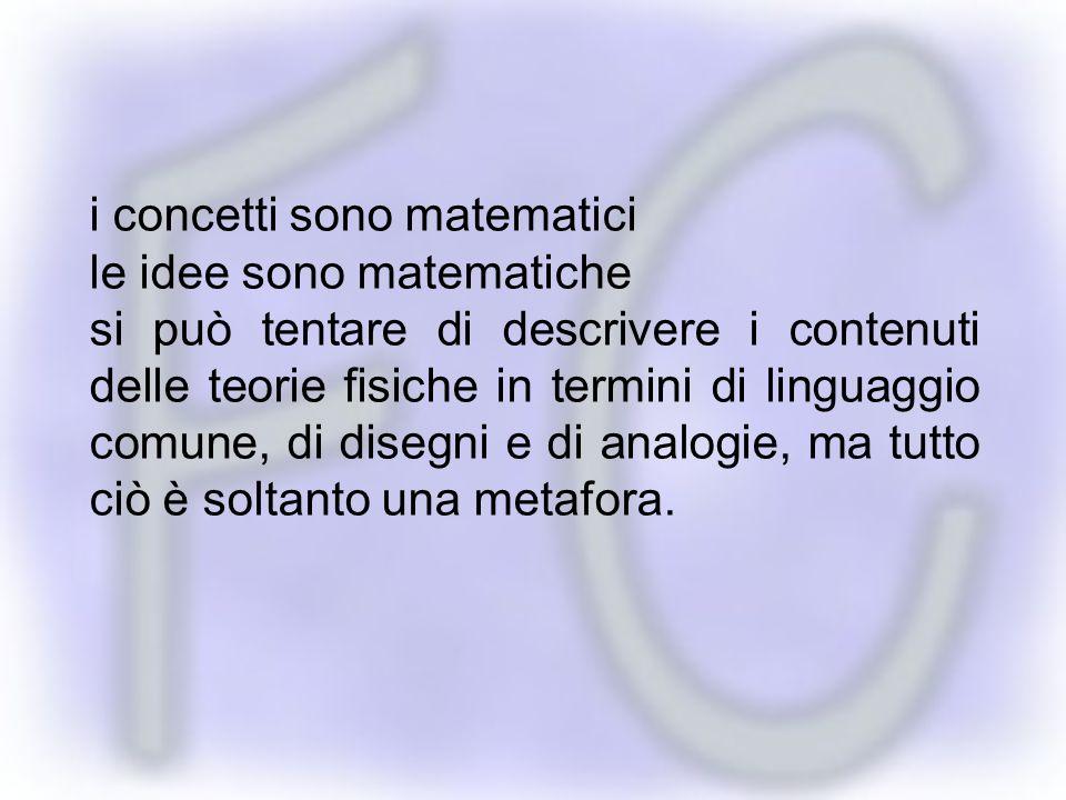 i concetti sono matematici