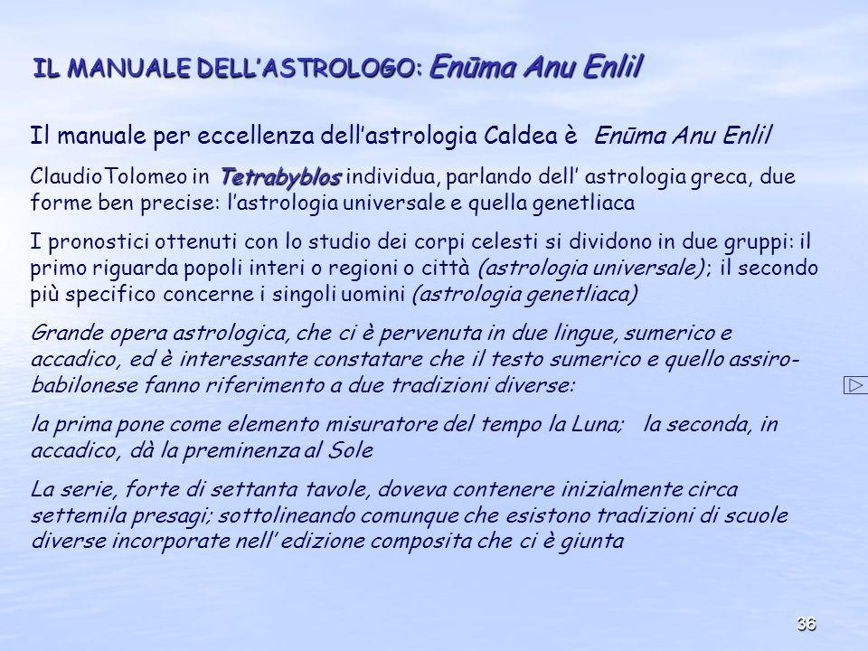 IL MANUALE DELL'ASTROLOGO: Enūma Anu Enlil