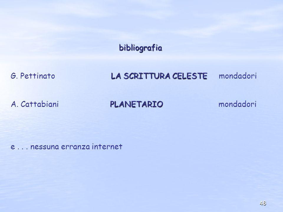 bibliografia G. Pettinato LA SCRITTURA CELESTE mondadori.