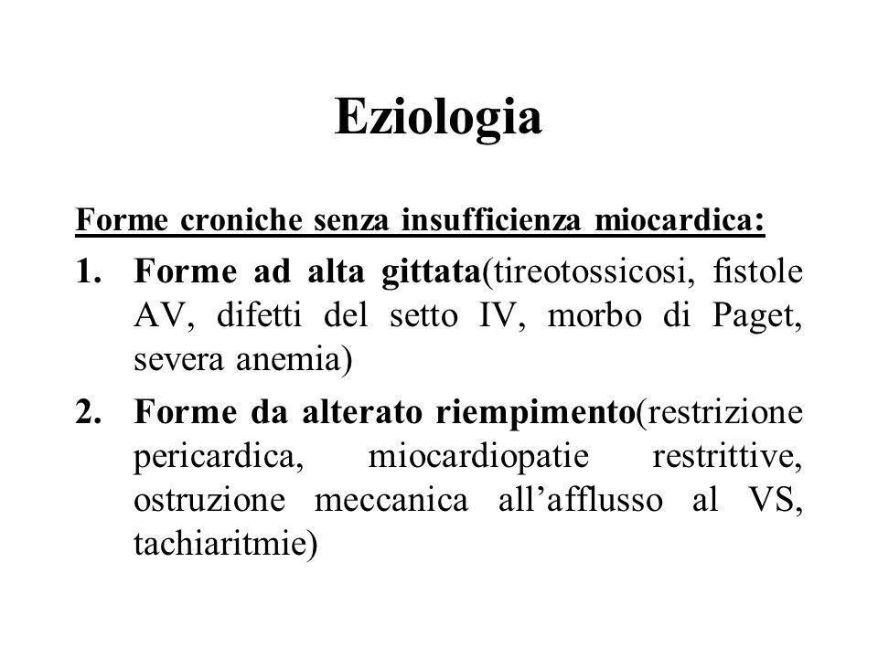 Eziologia Forme croniche senza insufficienza miocardica: