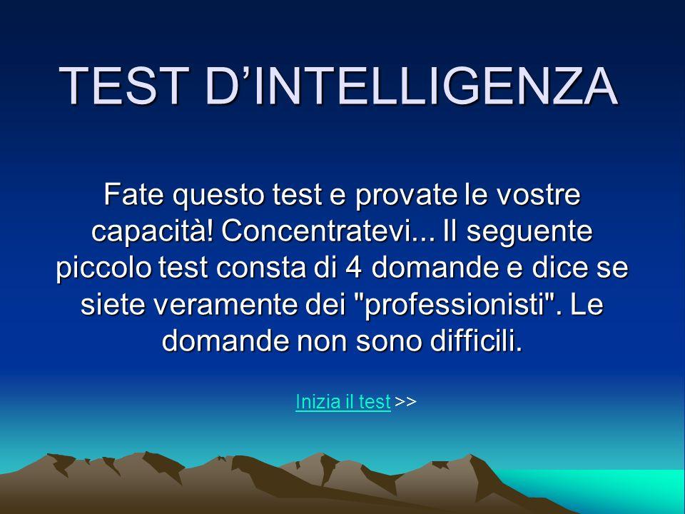 TEST D'INTELLIGENZA
