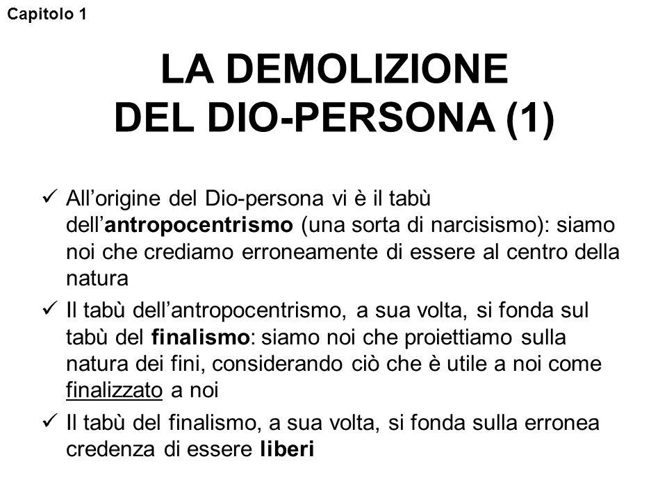 LA DEMOLIZIONE DEL DIO-PERSONA (1)