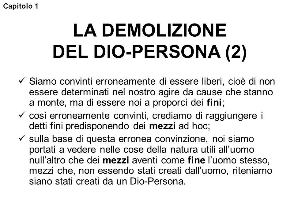 LA DEMOLIZIONE DEL DIO-PERSONA (2)