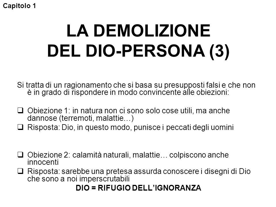 LA DEMOLIZIONE DEL DIO-PERSONA (3)