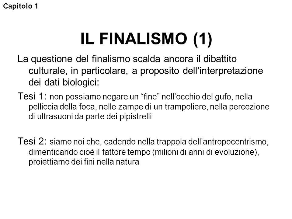 Capitolo 1 IL FINALISMO (1)