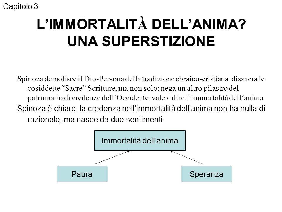 L'IMMORTALITÀ DELL'ANIMA UNA SUPERSTIZIONE