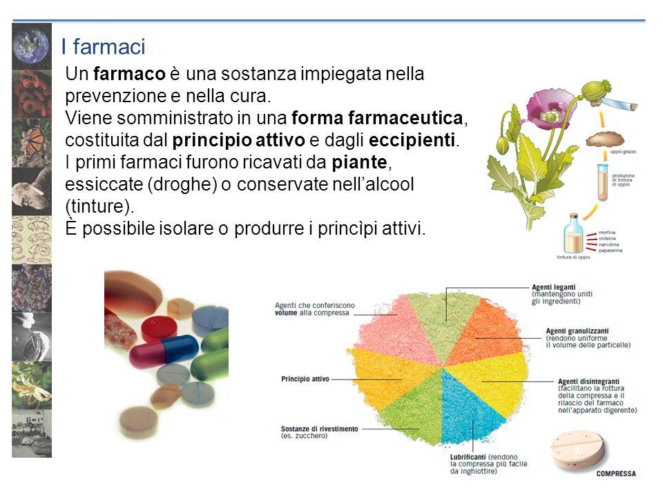 I farmaci Un farmaco è una sostanza impiegata nella prevenzione e nella cura.