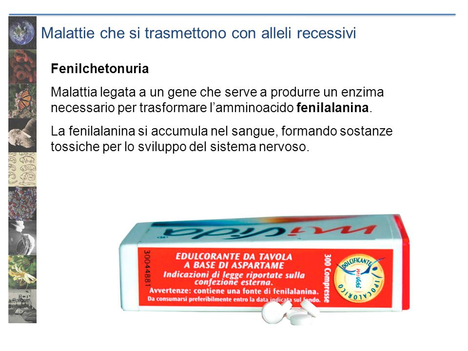Malattie che si trasmettono con alleli recessivi