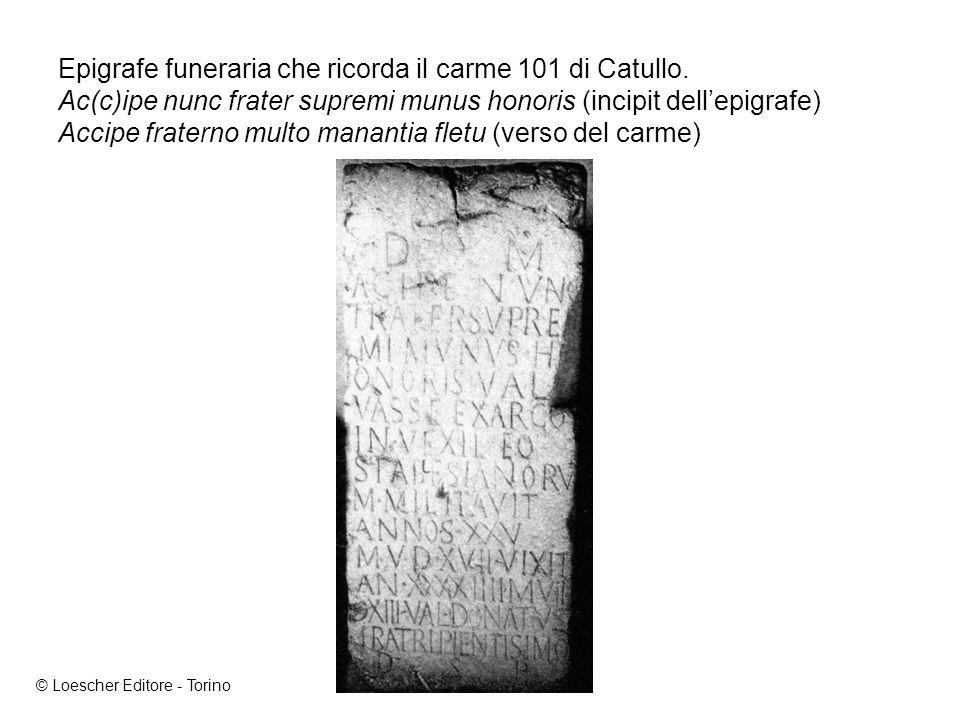 Epigrafe funeraria che ricorda il carme 101 di Catullo
