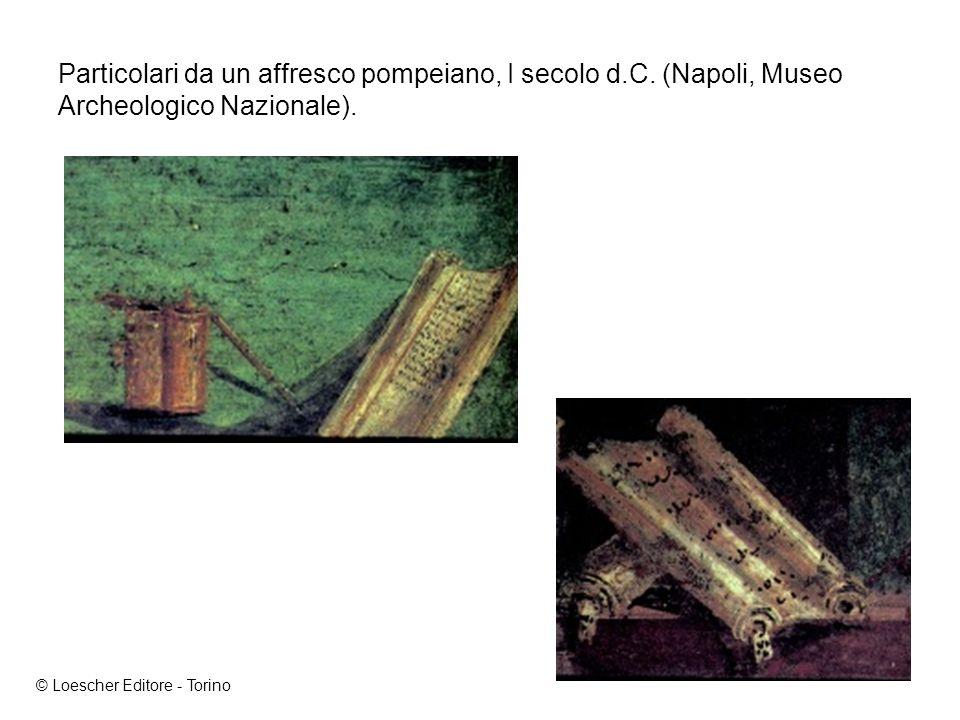 Particolari da un affresco pompeiano, I secolo d. C