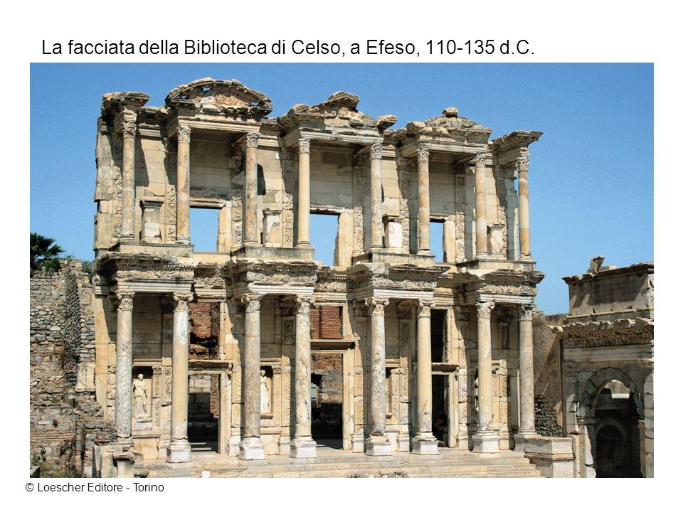 La facciata della Biblioteca di Celso, a Efeso, 110-135 d.C.