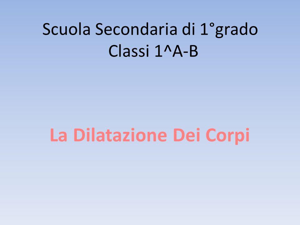 Scuola Secondaria di 1°grado Classi 1^A-B