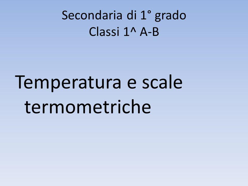 Secondaria di 1° grado Classi 1^ A-B