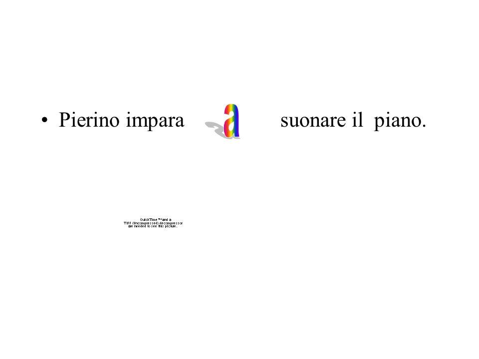 Pierino impara suonare il piano.