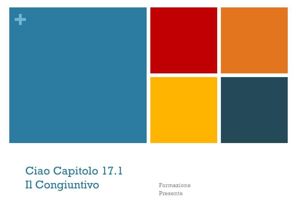 Ciao Capitolo 17.1 Il Congiuntivo