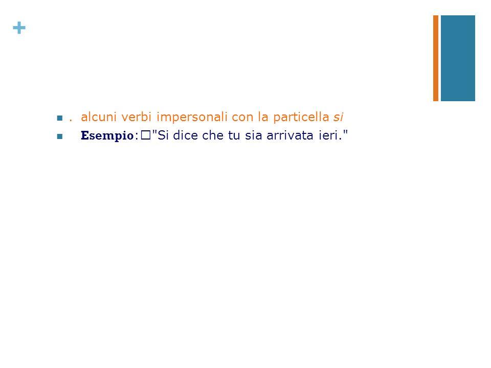 . alcuni verbi impersonali con la particella si