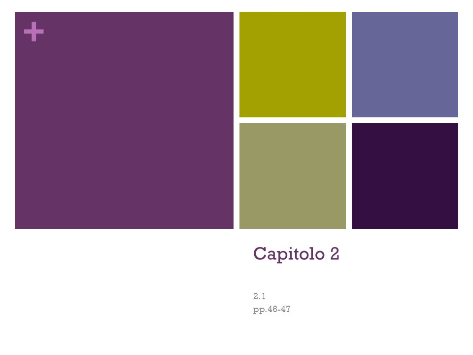 Capitolo 2 2.1 pp.46-47